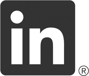 Showing the LinkedIn logo.