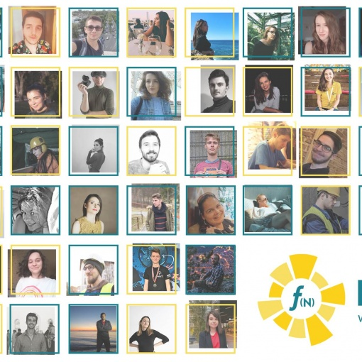 Portrait collage of the members of team EFdeN.