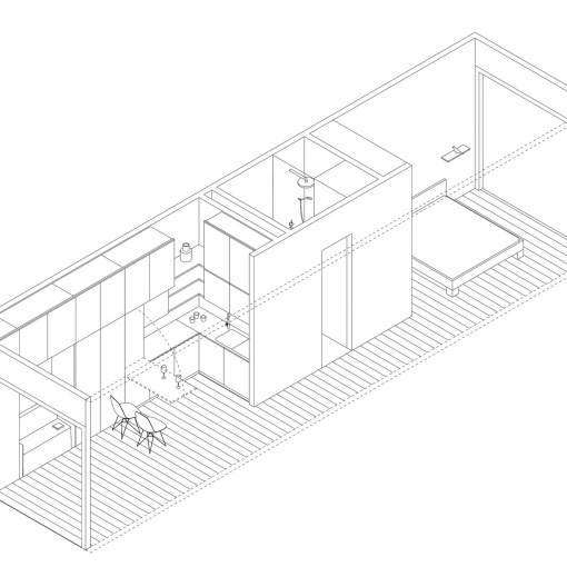 Interior design of the module of team MI-MO.