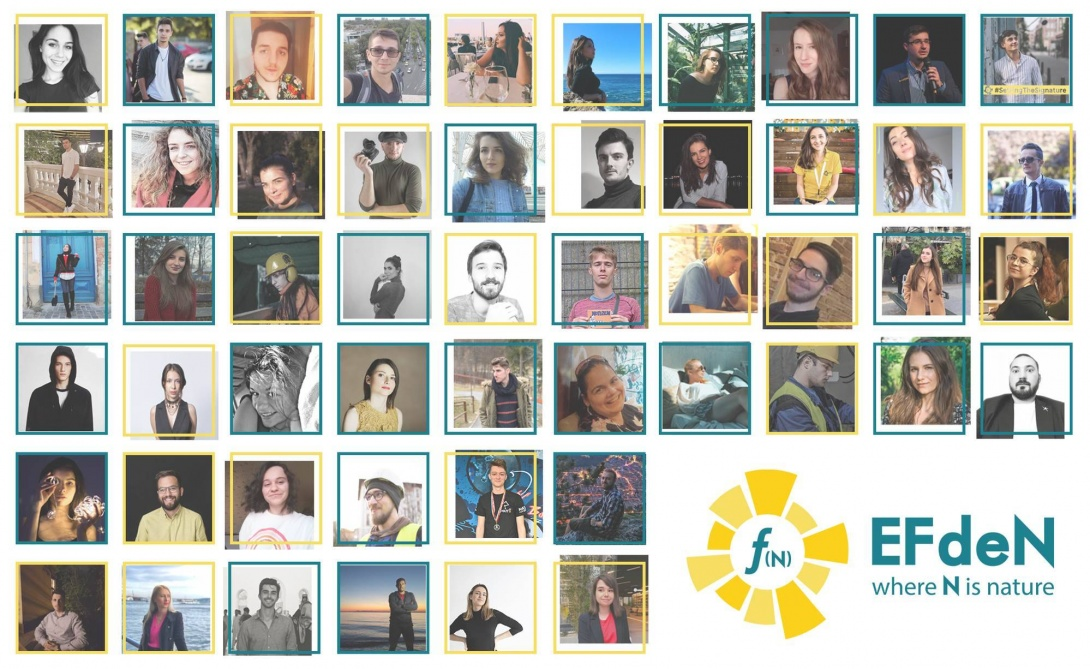 A collage of portraits of the EFdeN team members.