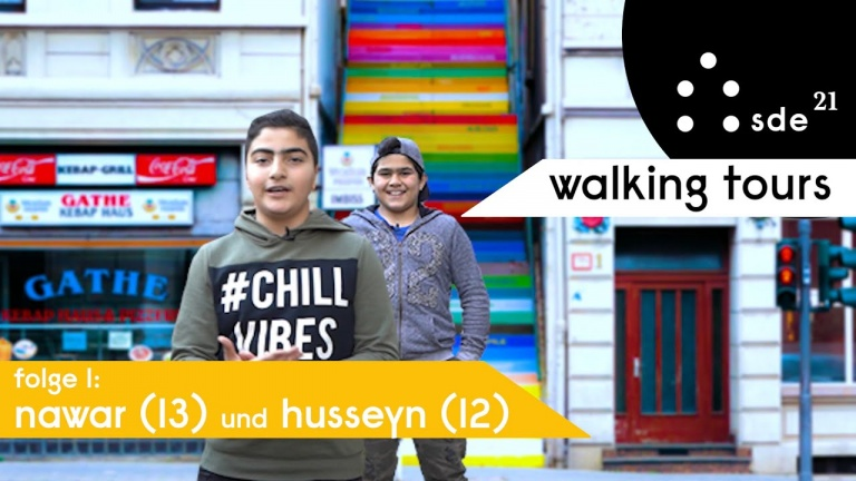 "Thumbnail of the Youtube series ""Walking Tours Wuppertal"" by SDE21"