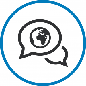 The communication, education and social awareness icon