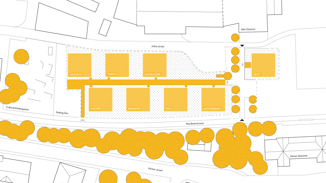 Map of the Living Lab. NRW on the Solar Campus