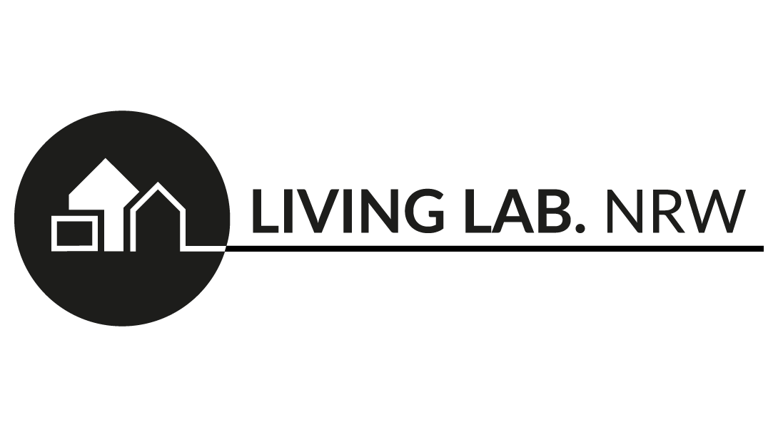 The logo of the Living Lab. NRW