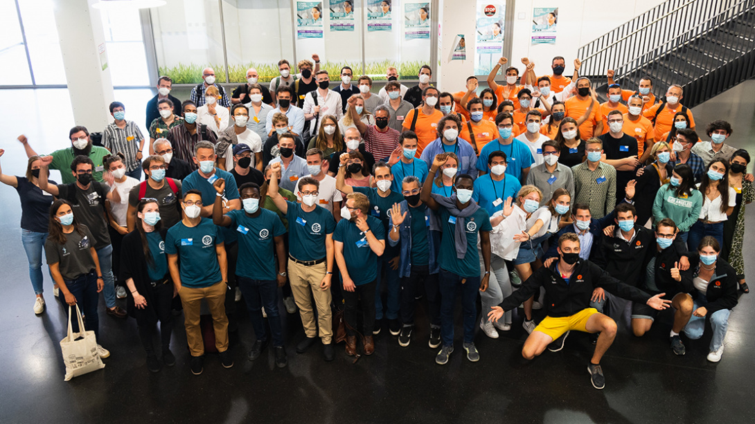 group picture of all teams at the university of wuppertal